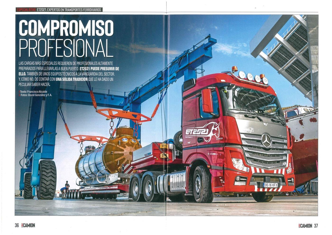 Reportaje de Solo camión a ET2021- transportes especiales y pesados